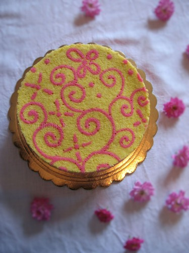 Torta biscuit joconde imprimè