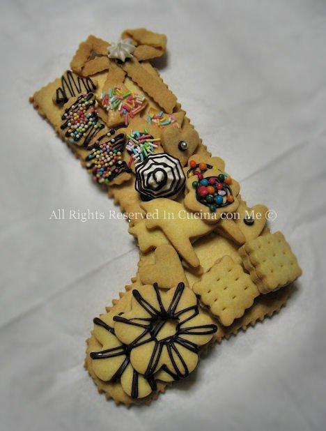 calza della befana in biscotto