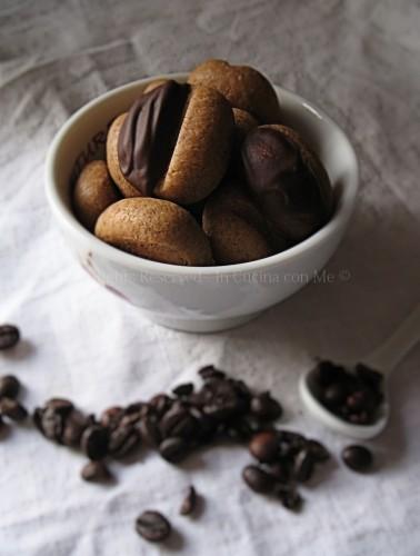 Chicchi di caffè al cioccolato