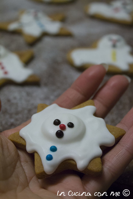 Snowman melting cookies