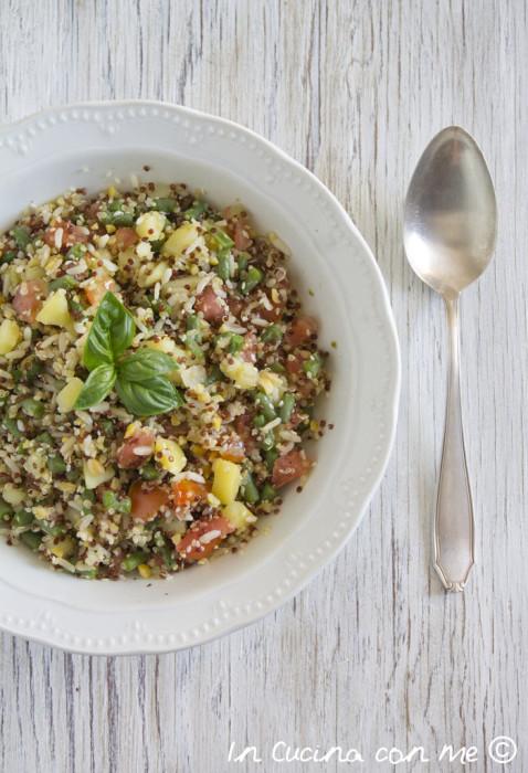 Quinoa riso e verdure