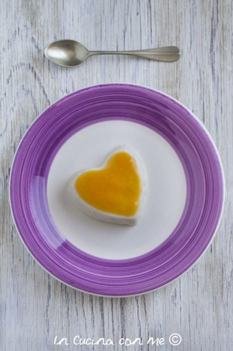 un cuore di panna cotta con agar agar in cucina con me. Black Bedroom Furniture Sets. Home Design Ideas