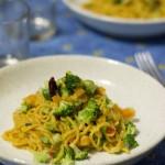 Le ricette strane; Spaghetti alle carote e curcuma con verdure