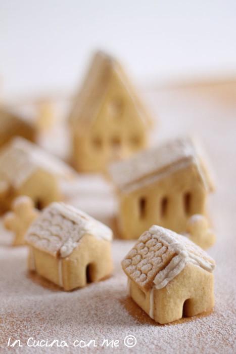 Villaggio di Natale in biscotto