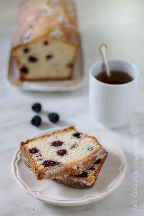 Blackberry lemon tea loaf