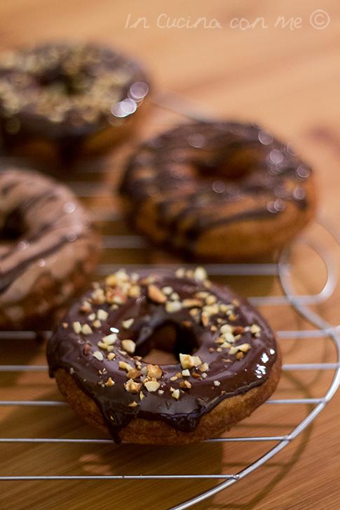 Donut cioccolato fondente
