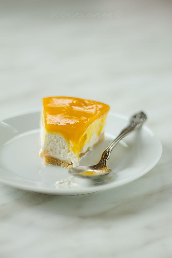 No bake cheesecake al mango fetta