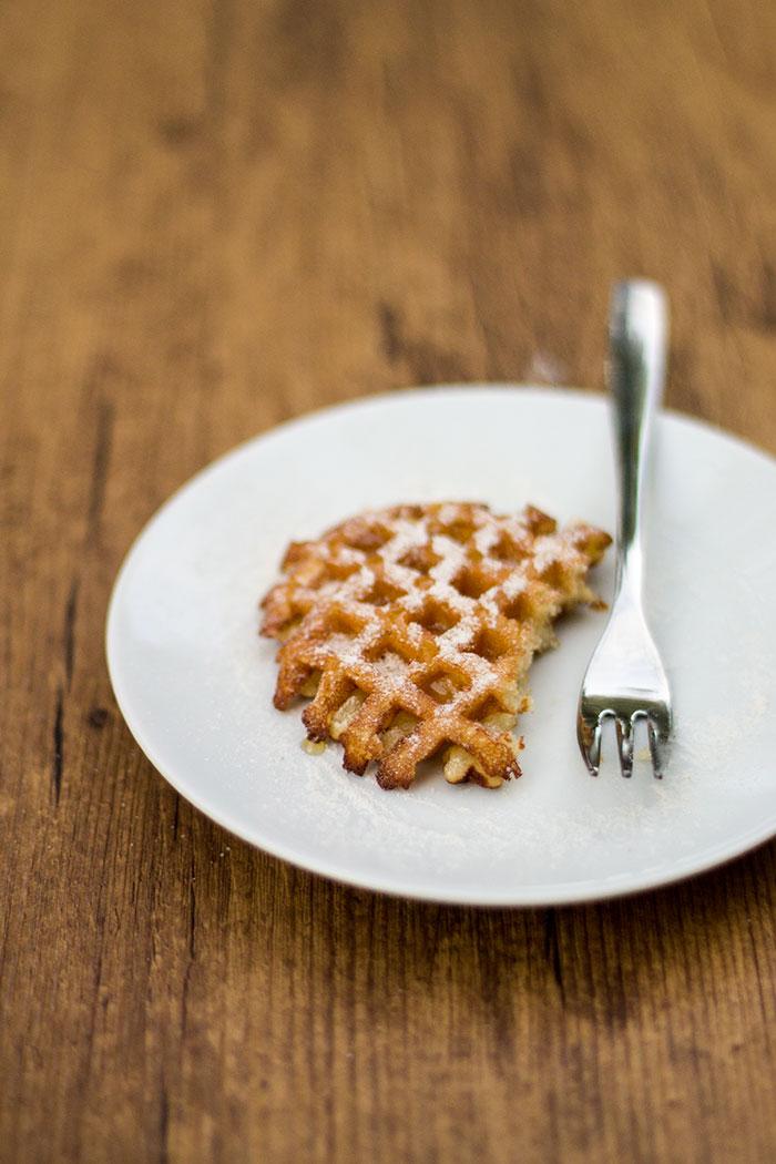 Waffle croccanti con miele