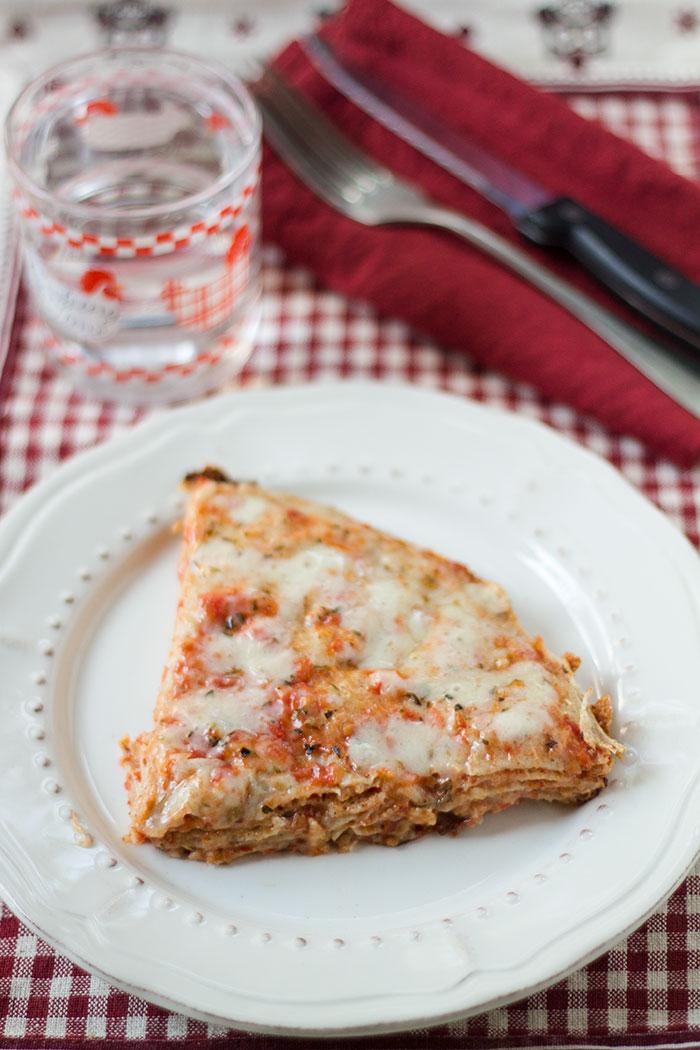 Pizza di crepes in padella