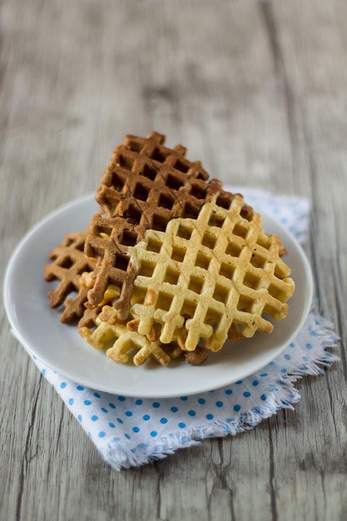 Waffle bicolore