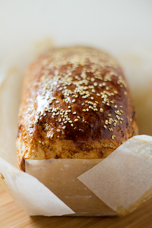 Pane per fette biscottate ai semi di sesamo