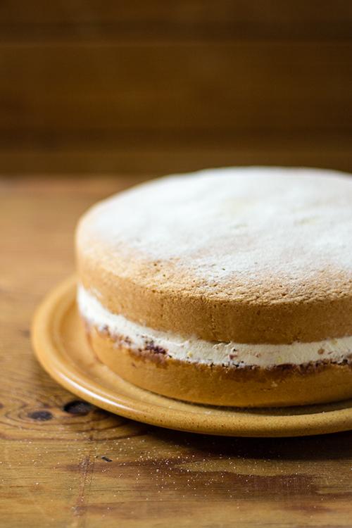 Victoria sponge cake o sandwich