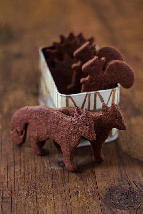 Biscotti di sablé al cacao