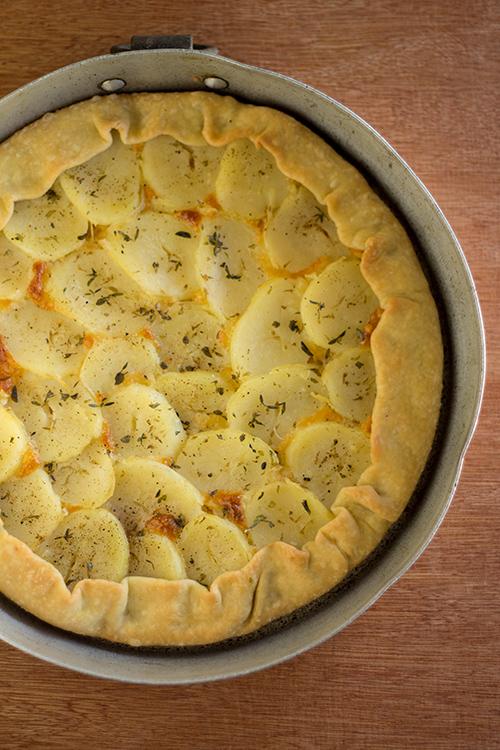 Torta con patate e scamorza - In Cucina con Me