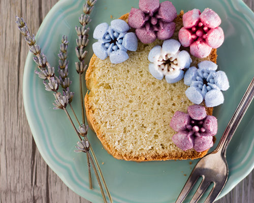 Lavender tea loaf