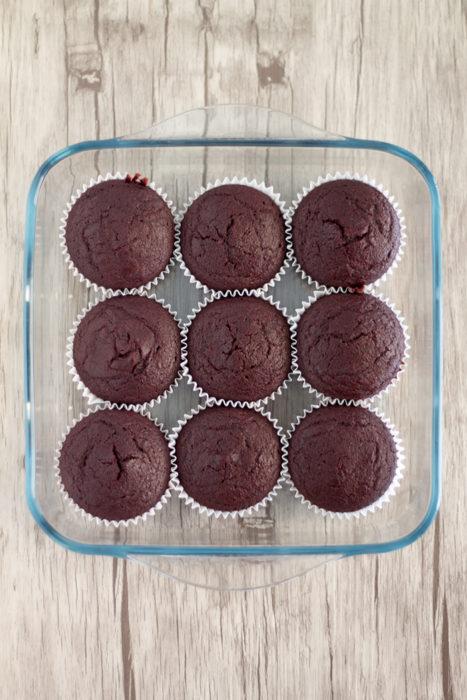 Muffin alla rapa rossa e cacao