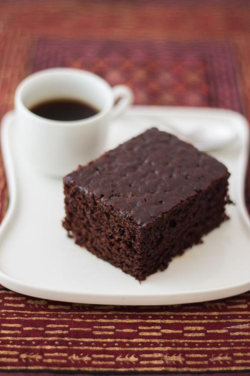 Torta al cacao e caffè