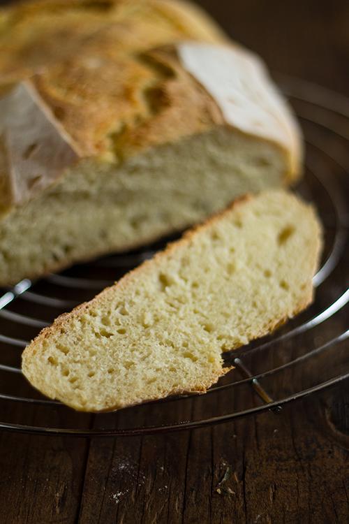 Fetta di pane di semola