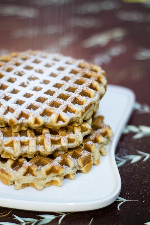 Banana waffle speziati